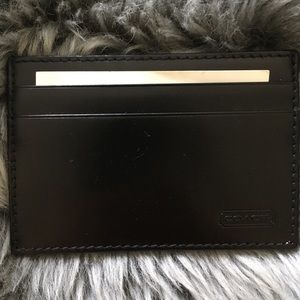 Coach card money clip